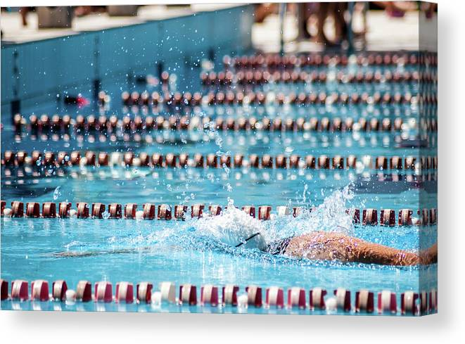 Udine Canvas Print featuring the photograph Swimmer In A Sport Pool by Bosca78