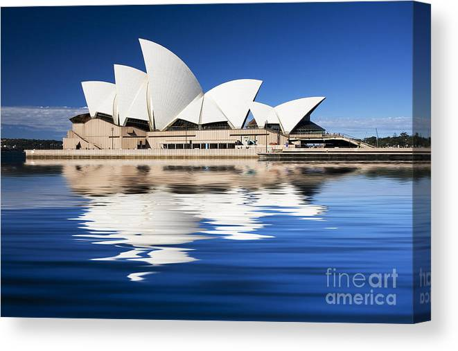 Sydney Opera House Canvas Print featuring the photograph Sydney Icon by Sheila Smart Fine Art Photography