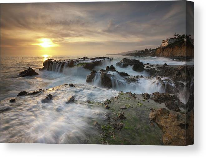 Scenics Canvas Print featuring the photograph The Cauldron - Victoria Beach by Images By Steve Skinner Photography