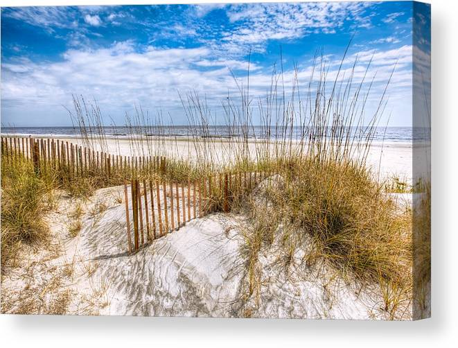 Clouds Canvas Print featuring the photograph The Dunes by Debra and Dave Vanderlaan