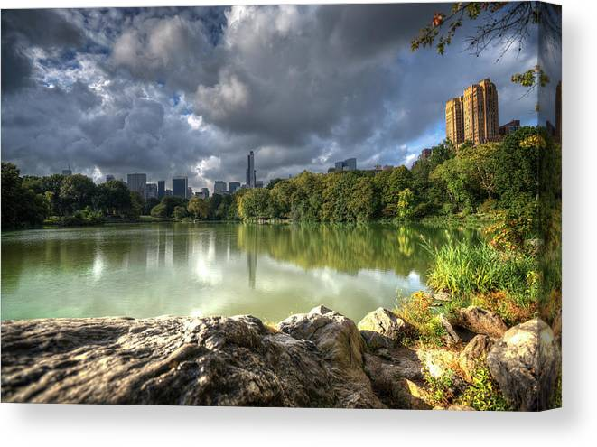 The Lake In Central Park Lake In Early Canvas Print Canvas Art By Vicki Jauron Babylon And Beyond Photography