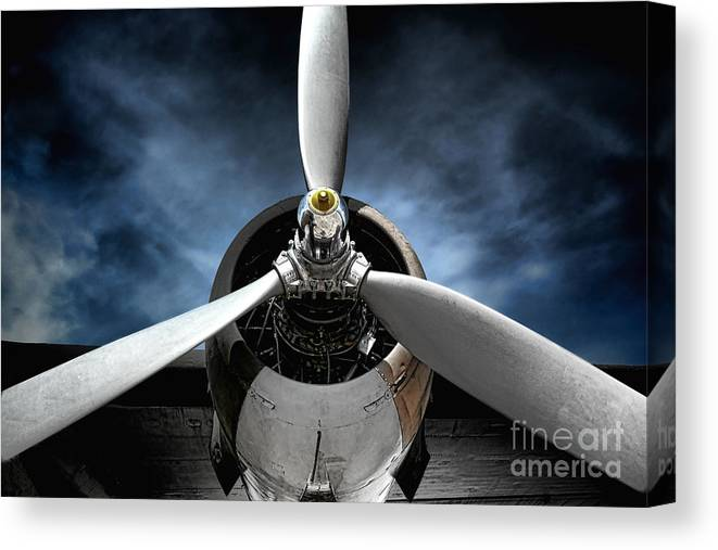 Plane Canvas Print featuring the photograph The Mission by Olivier Le Queinec