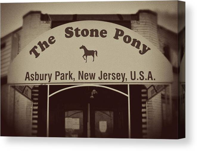 The Stone Pony Vintage Asbury Park New Jersey Canvas Print featuring the photograph The Stone Pony Vintage Asbury Park New Jersey by Terry DeLuco