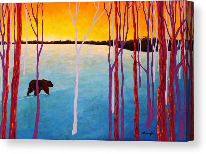 Wildlife Canvas Print featuring the painting The Sundowner by Joe Triano