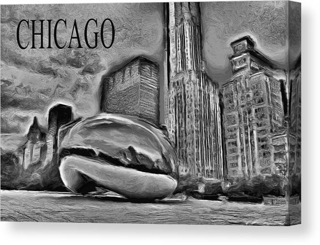 Cloudgate Canvas Print featuring the painting This Is Chicago by Ely Arsha