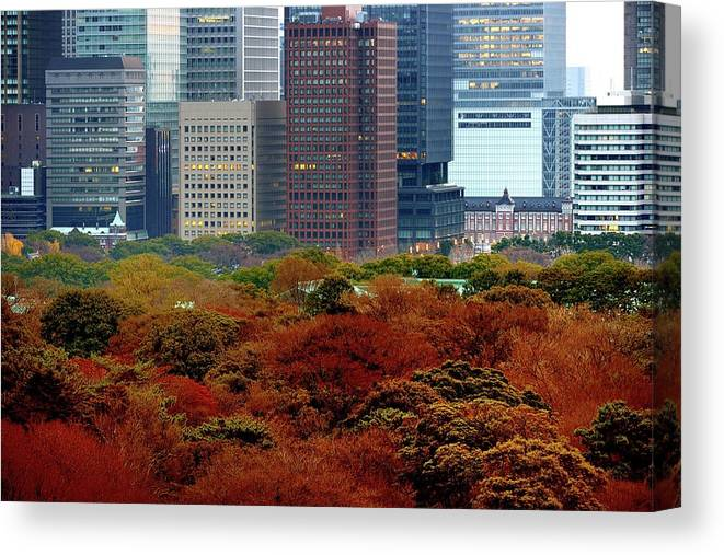Financial District Canvas Print featuring the photograph Tokyo Marunouchi by Vladimir Zakharov