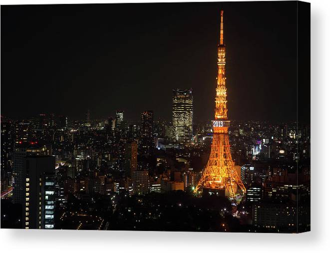 Tokyo Tower Canvas Print featuring the photograph Tokyo Tower by Kkshm