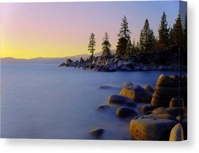 Lake Tahoe Canvas Print featuring the photograph Under Clear Skies by Chad Dutson