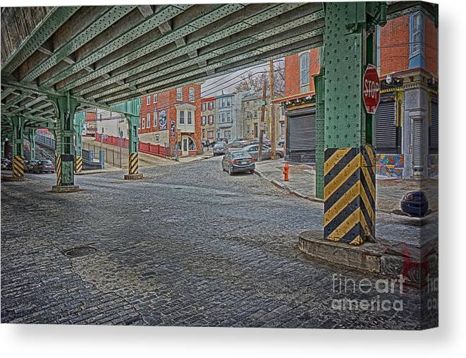 Manayunk Canvas Print featuring the photograph Under The El Manayunk by Jack Paolini