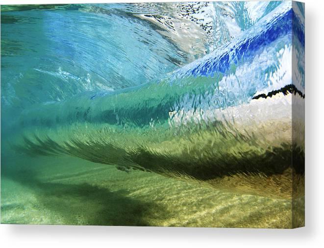 Amaze Canvas Print featuring the photograph Underwater Wave Curl by Vince Cavataio - Printscapes