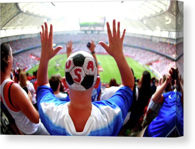 National Team Canvas Print featuring the photograph Usa V Japan Final - Fifa Womens World by Jeff Vinnick