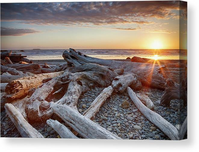 Scenics Canvas Print featuring the photograph Usa, Washington State, Olympic National by Bryan Mullennix