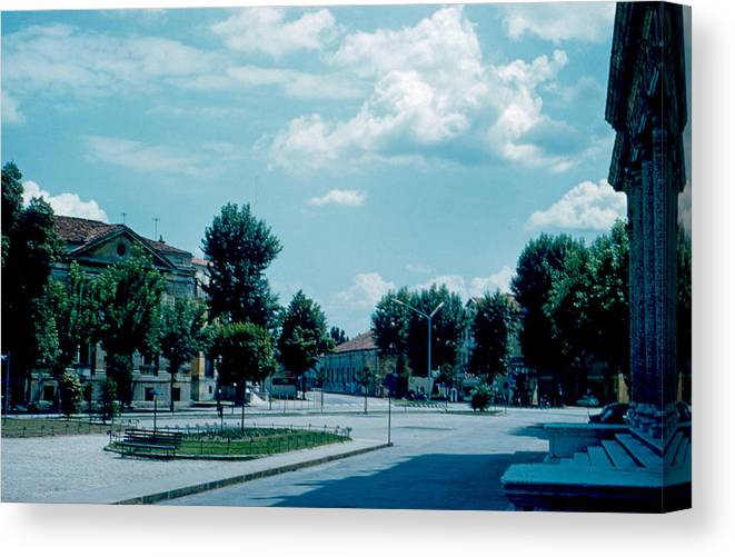 Vicenza Canvas Print featuring the photograph Vicenza Italy 3 1962 by Cumberland Warden