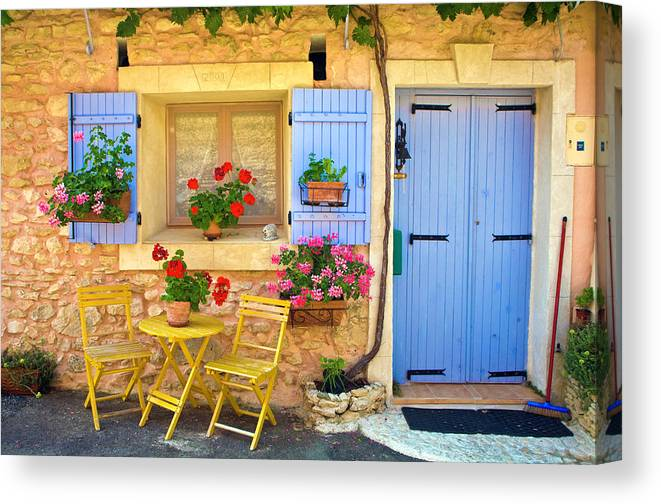 Outdoors Canvas Print featuring the photograph Village House In The Tiny Luberon by Barbara Van Zanten
