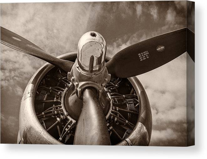 3scape Canvas Print featuring the photograph Vintage B-17 by Adam Romanowicz
