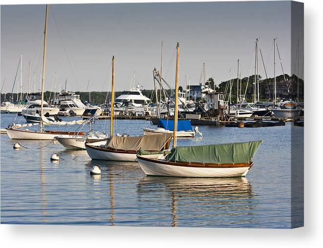Boat Canvas Print featuring the photograph Waiting for Sailors by Dennis Coates