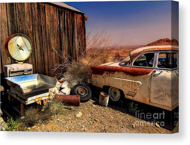 Car Canvas Print featuring the photograph Waiting on a Woman by Brenda Giasson