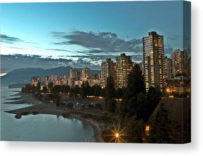 Westend Canvas Print featuring the photograph Westend Vancouver by Brian Chase
