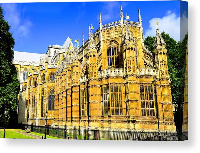 Westminster Canvas Print featuring the photograph Westminster Palace by Richard Henne