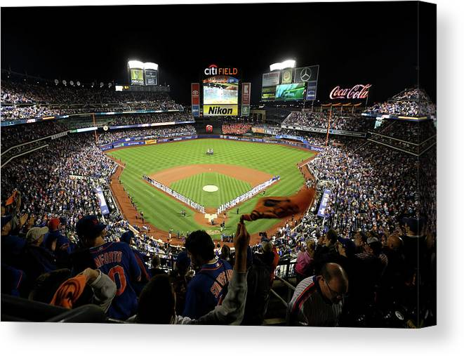 Playoffs Canvas Print featuring the photograph Wild Card Game - San Francisco Giants V by Michael Reaves
