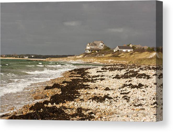 Woodneck Beach Canvas Print featuring the photograph Woodneck Beach by Dennis Coates