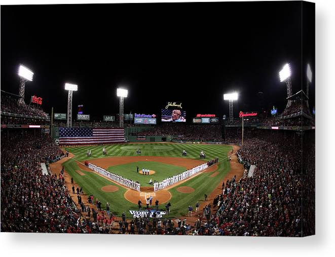 American League Baseball Canvas Print featuring the photograph World Series - St Louis Cardinals V by Alex Trautwig