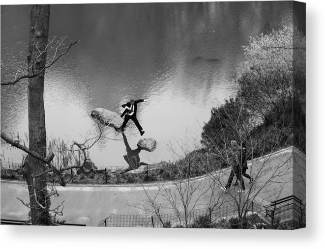 Jump Canvas Print featuring the photograph Jump by Misha Dontsov