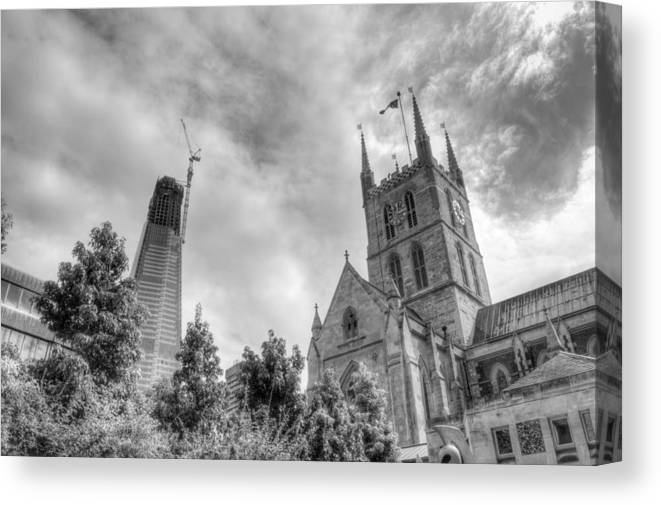 Shard Canvas Print featuring the photograph New and Old by Chris Day