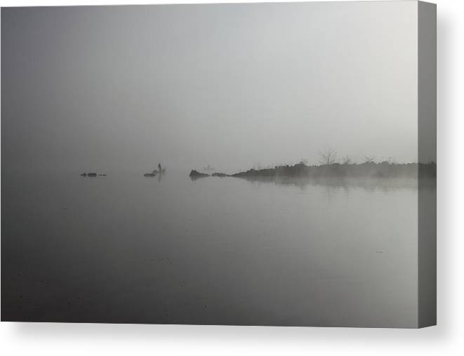 Lake Canvas Print featuring the photograph A misty morning by Kean Poh Chua
