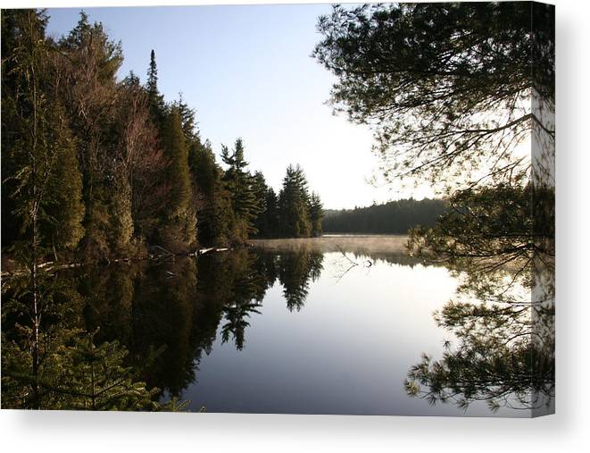 Water Canvas Print featuring the photograph Algonquin View by Dr Carolyn Reinhart
