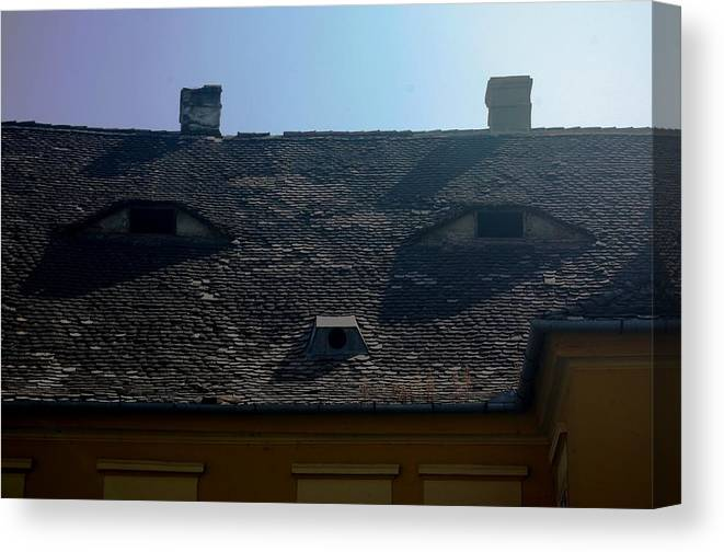Old Town Canvas Print featuring the photograph City eyes by Amalia Suruceanu