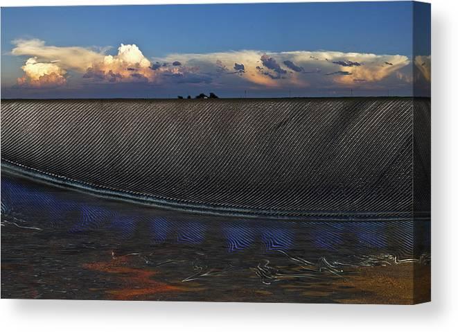 Clouds Canvas Print featuring the photograph Flatland Farm by Robert Hudnall