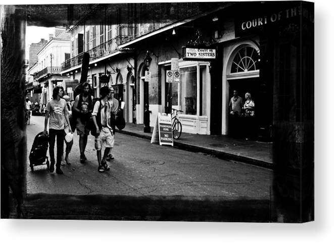 New Orleans Canvas Print featuring the photograph French Quarter Commute by Linda Kish