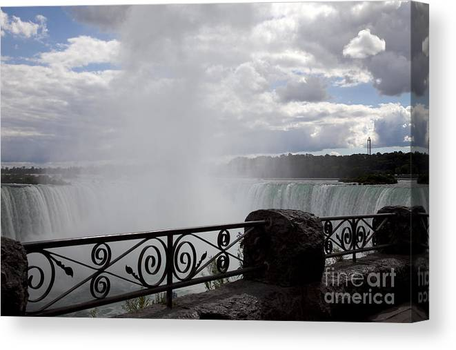Niagara Canvas Print featuring the photograph Gate to Fall by Amanda Barcon