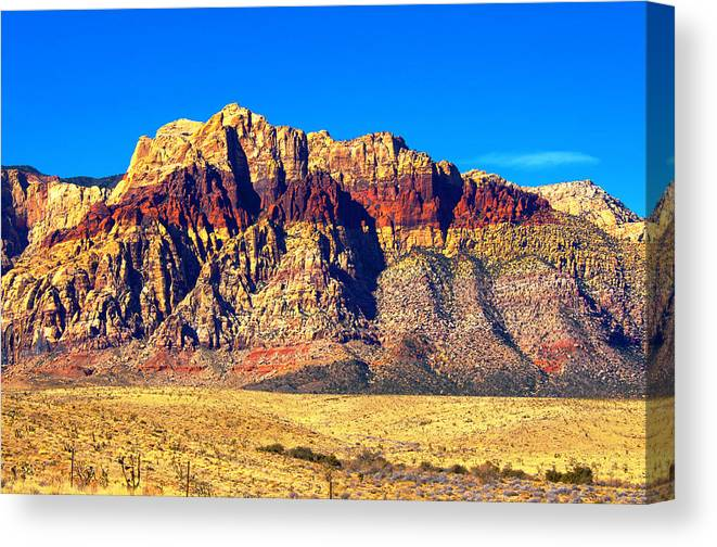 Las Vegas Canvas Print featuring the photograph Just Outside of Las Vegas by Richard Henne