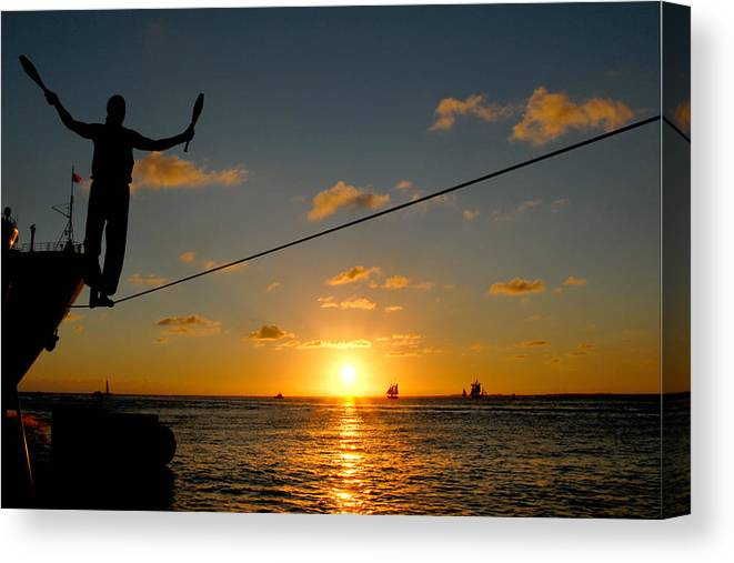Key West Canvas Print featuring the photograph Key West Sunset Performance by John Banegas