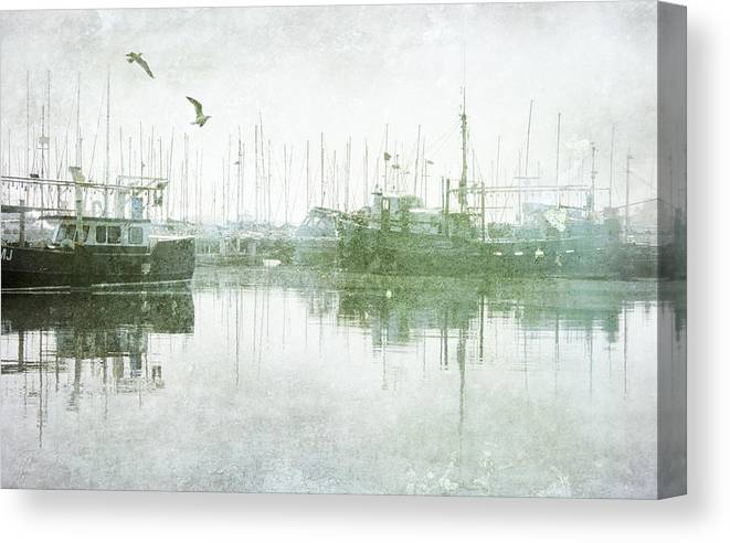 Misty Morning On The Boat Harbour Canvas Print Canvas Art By Margaret Hormann Bfa