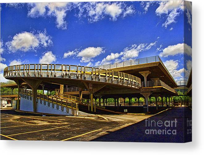 Architecture Canvas Print featuring the photograph Roundabout by Gib Martinez