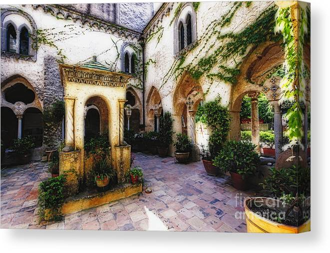 Southern Italy Villa Courtyard Canvas Print Canvas Art By George Oze
