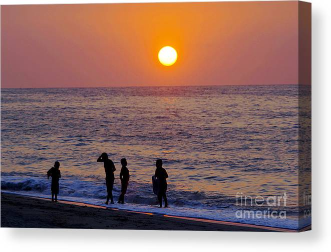 Children Canvas Print featuring the photograph Tropical Pacific Childhood by Gib Martinez