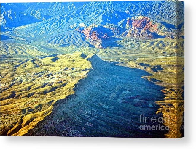 Red Rocks Canvas Print featuring the photograph West Of Las Vegas Planet Earth by James BO Insogna