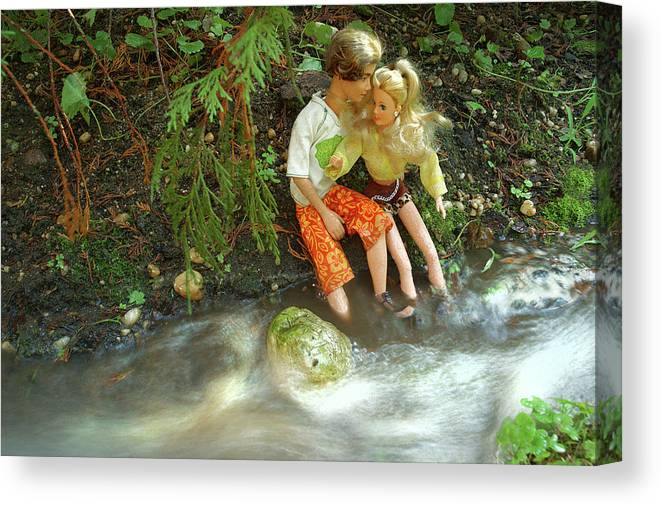 Barbie Canvas Print featuring the photograph Young Love Barbie and Ken by John Banegas