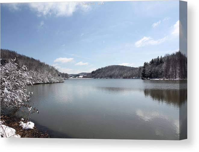 Big Ditch Lake Canvas Print featuring the photograph Big Ditch Lake by Carolyn Postelwait