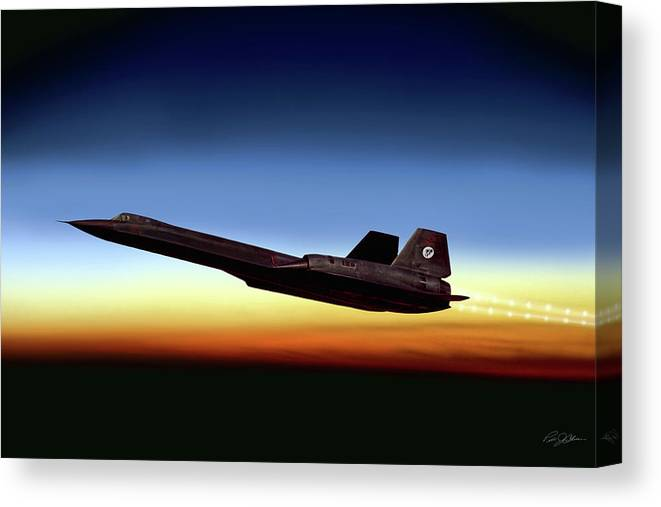 Aviation Canvas Print featuring the digital art Black Diamond by Peter Chilelli