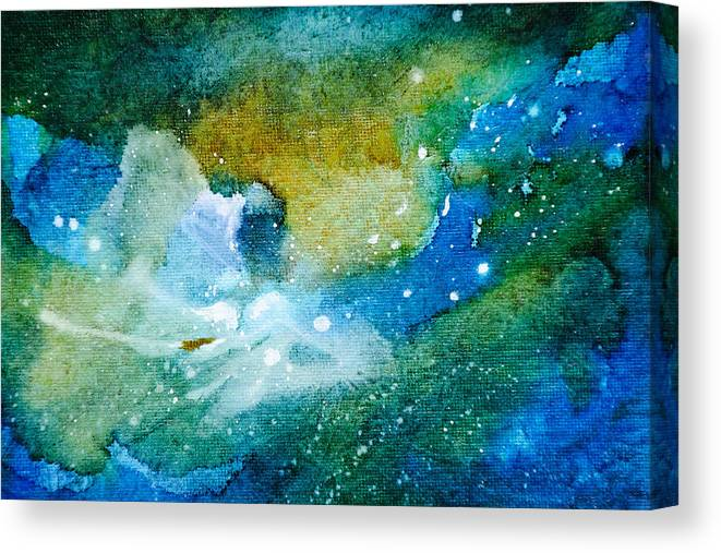 Abstract Canvas Print featuring the painting Go With The Flow - A - by Sandy Sandy