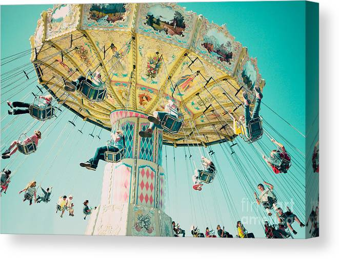 Swings Canvas Print featuring the photograph The Swings by Kim Fearheiley