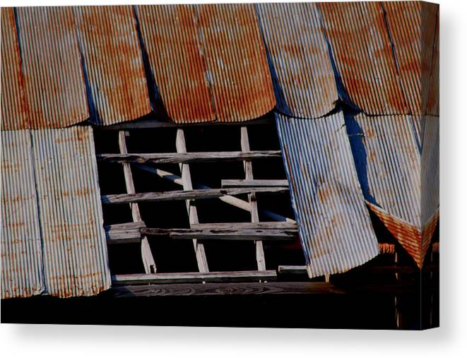 Vintage Canvas Print featuring the photograph Vintage Skylight by Karen Wagner