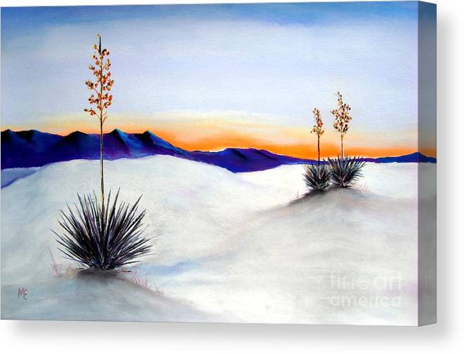 White Sands Canvas Print featuring the painting White Sands by Melinda Etzold