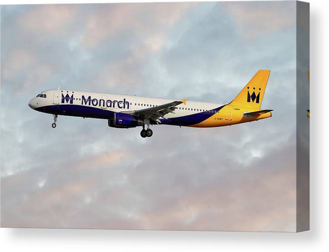 Monarch Canvas Print featuring the photograph Monarch Airbus A321-231 by Smart Aviation