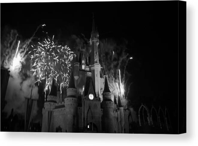 Walt Disney World Canvas Print featuring the photograph Cinderella Castle by Rob Hans